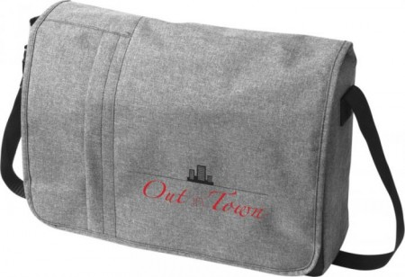 "Fromm heathered 15.6"" laptop messenger bag"