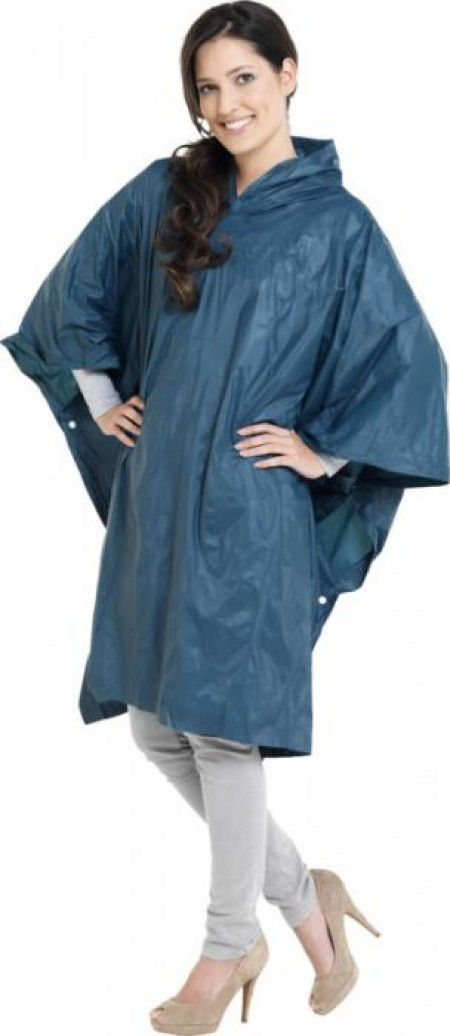 Pilar adjustable rain poncho with pouch