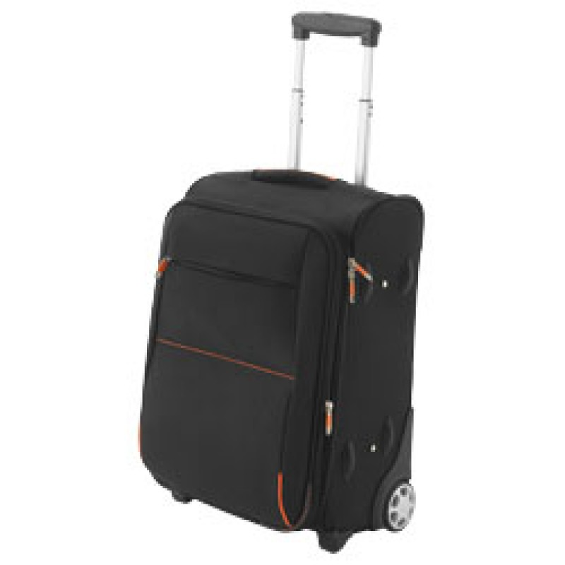 Airporter carry-on trolley, solid black