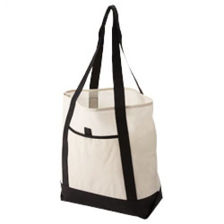 Lighthouse non-woven tote bag, solid black