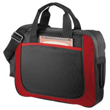Dolphin business brieface, solid black / red