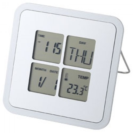 Livorno desk weather station, silver